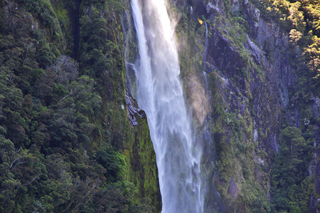 Cruise to Milford Sound Fjord, New, Zealand Imagens