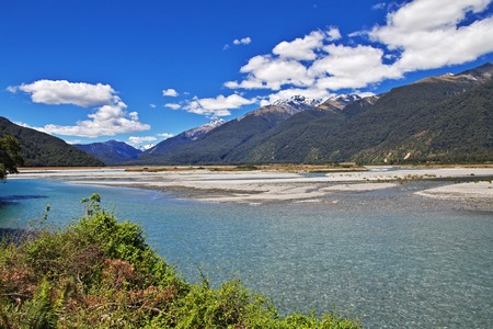 Nature of South island, New Zealand
