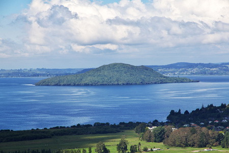 Rotorua city by the lake, New Zealand