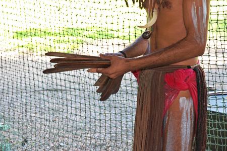 The village of the aborigines of Australia, Cairns Reklamní fotografie