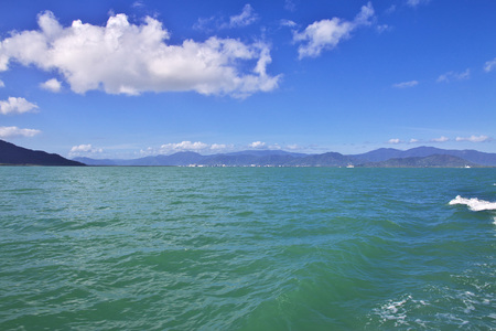 Cruise to Great Barrier Reef, Australia Stock Photo
