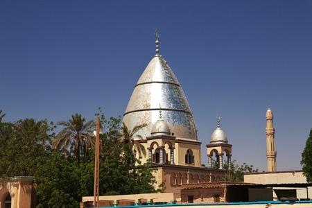 Mosque in district Omdurman in Khartoum, Sudan Imagens