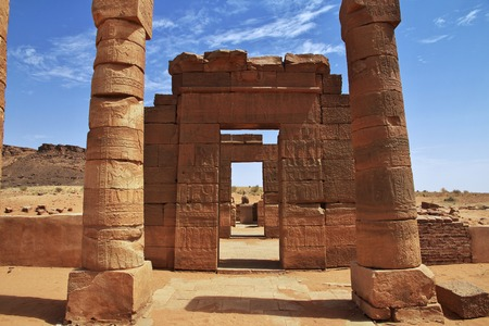 The ruins of an ancient Egyptian Temple in the desert of Sudan, Nubia