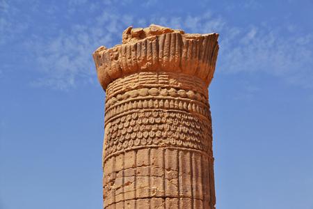 Kingdom Kush - the ruins of the Temple in the desert of the Sudan Reklamní fotografie