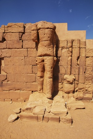 Kingdom Kush - the ruins of the Temple in the desert of the Sudan Фото со стока