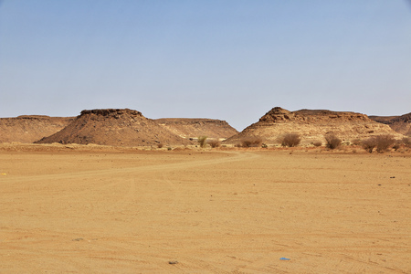The Temple of Amun in the desert of the Sudan