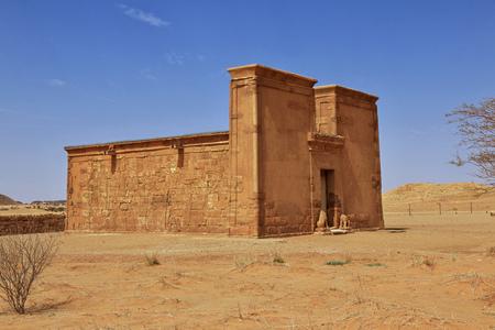 Świątynia Amona na pustyni Sudanu Zdjęcie Seryjne