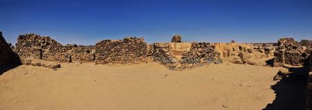 The ruins of the ancient monastery of Ghazali, Sudan, Africa