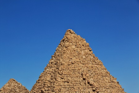 Ancient pyramids of Nuri, Sudan 版權商用圖片 - 122256358