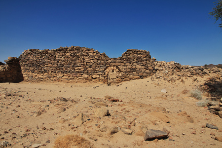 The ruins of the ancient monastery of Ghazali, Sudan, Africa