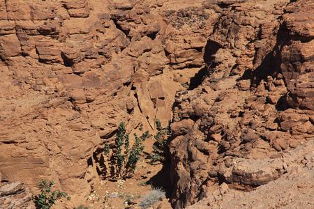 Canyon in the Sahara desert, Sudan
