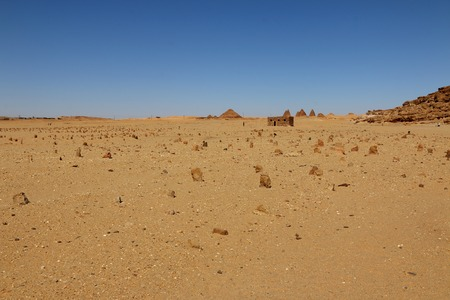 Arab cemetery in Sudan, Africa
