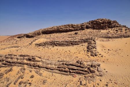 Ruins in Sahara desert, Africa Фото со стока