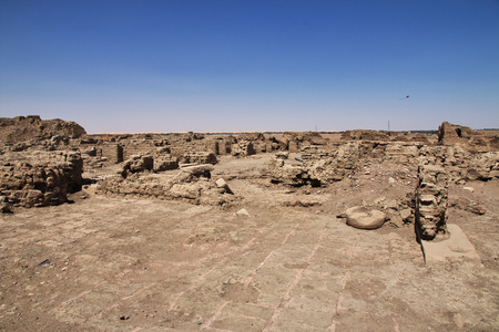 Ruins of ancient Egyptian temple in Nubia