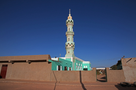The town of Wadi Halfa on the border of Sudan and Egypt