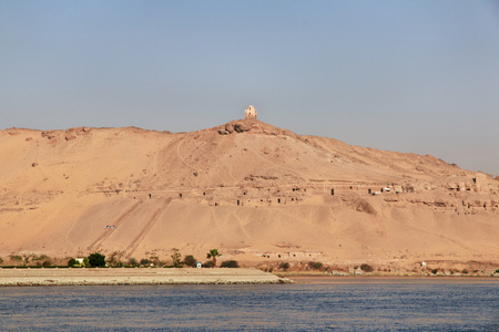 Aswan city in Egypt on the Nile river 版權商用圖片