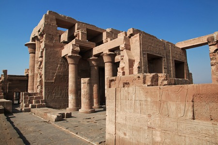 Temple of Kom-Ombo on the Nile river in Egypt