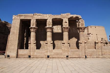 Edfu temple on the Nile river in Egypt Reklamní fotografie - 122013880