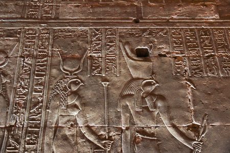 Edfu temple on the Nile river in Egypt Banco de Imagens