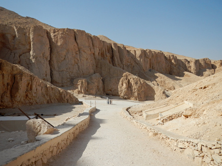 The ancient necropolis Valley of the Kings in Luxor, Egypt Stock fotó