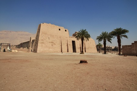The temple of Medinet Habu in Luxor, Egypt