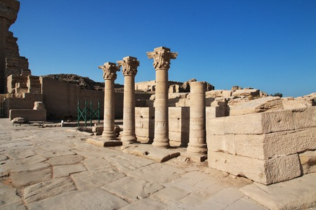 Ancient temple Hathor in Dendera, Egypt Stock fotó