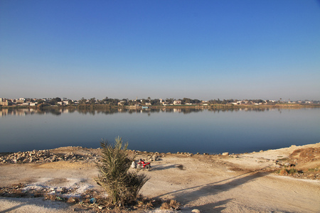 Nile river in Amarna, Egypt