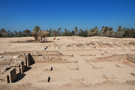 Ruins of Palace in Amarna, Egypt Stock Photo