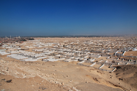 Old cemetery in Amarna, Egypt Stock Photo