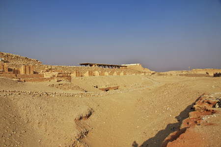 Ancient pyramid of Sakkara in the desert of Egypt Фото со стока