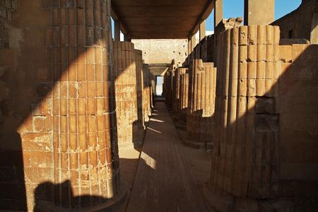 The colonnade in Sakkara, Egypt Reklamní fotografie
