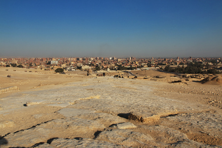 The view on Giza, Egypt Banque d'images - 124857027