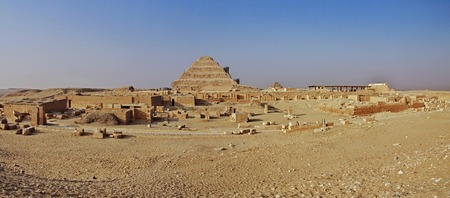 Ancient pyramid of Sakkara in the desert of Egypt Reklamní fotografie
