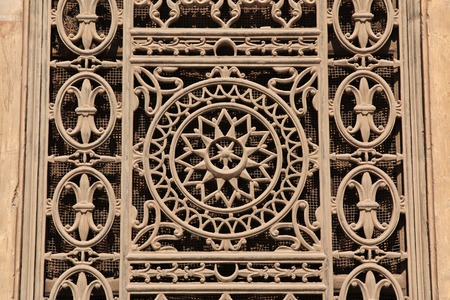 The Decorative grille in Cairo, Egypt