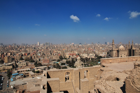 The ancient citadel in Cairo center, Egypt