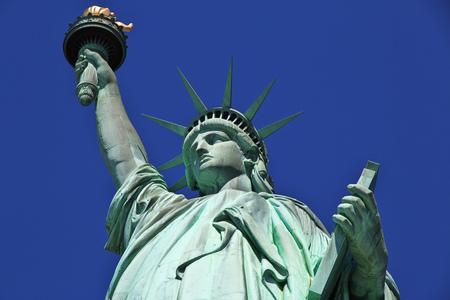 Vrijheidsbeeld in New York, VS Stockfoto