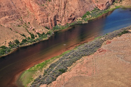 Horseshoe Colorado in Arizona, USA Stock Photo