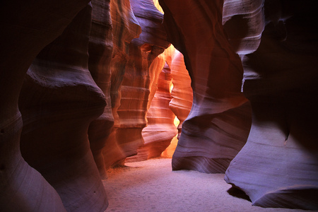Antelope Canyon in Arizona, USA 스톡 콘텐츠
