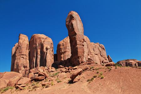Monument Valley in Utah and Arizona 免版税图像