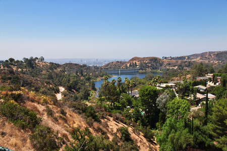 Lake on Hollywood, Los Angeles, California, USA