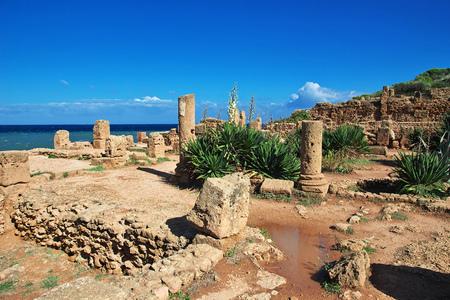 Tipaza Roman ruins in Algeria, Africa Imagens