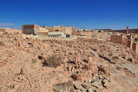 Cemetery in Ghardaia is city in Sahara desert, Algeria
