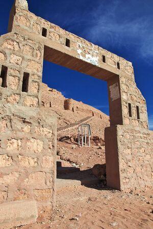 Castle in the Sahara desert in the heart of Africa Stock Photo