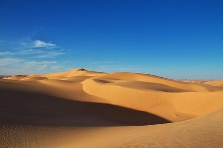 Dünen in der Wüste Sahara im Herzen Afrikas