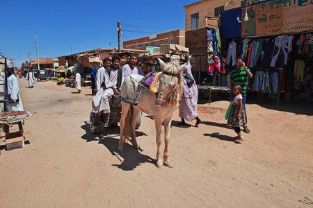 Kerma, Sudan - 20 Feb 2017. On the street in Kerma city in Sahara desert