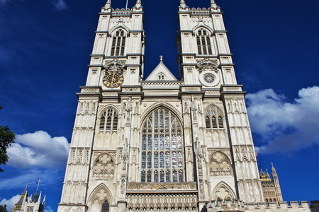 Westminster Abbey in London city, England