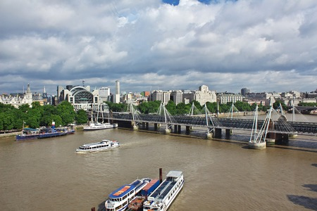 The bridge on Thames river in London city, England
