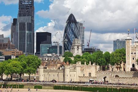 The skyscraper in London city, England
