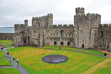 Ancient carnarfon castle in UK
