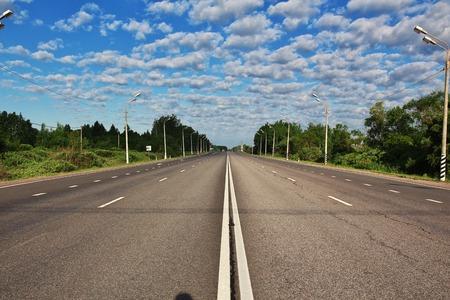Autopista de alta velocidad en Alemania Foto de archivo
